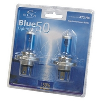 Žárovky H4 Elta Blue Lighting 50 Plus (2 ks)