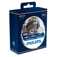 Žárovky H4 Philips Racing Vision +150% (DUO BOX 2 ks)