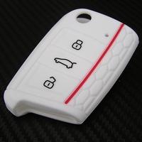 Silikonový obal - kryt na klíč Volkswagen Golf VII (2012) - RS Design - bílý 8fc041f25f9